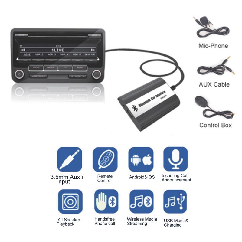 Car MP3 Adapter AUX USB Music Charging Handsfree Bluetooth A2DP Car Kit For Mazda 2 3 5 CX7 RX8 MPV Car Stereo Radio Interface