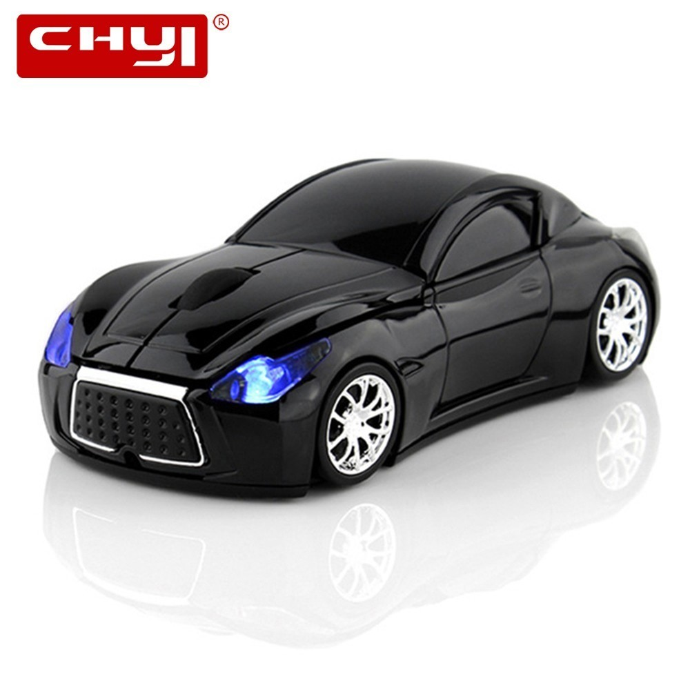 CHYI Mini Ratón Inalámbrico para Computadora Infiniti Sports Car Mouse 1600 DPI USB Óptico 3D Mause Gaming Ratones Para PC Gamer Laptop