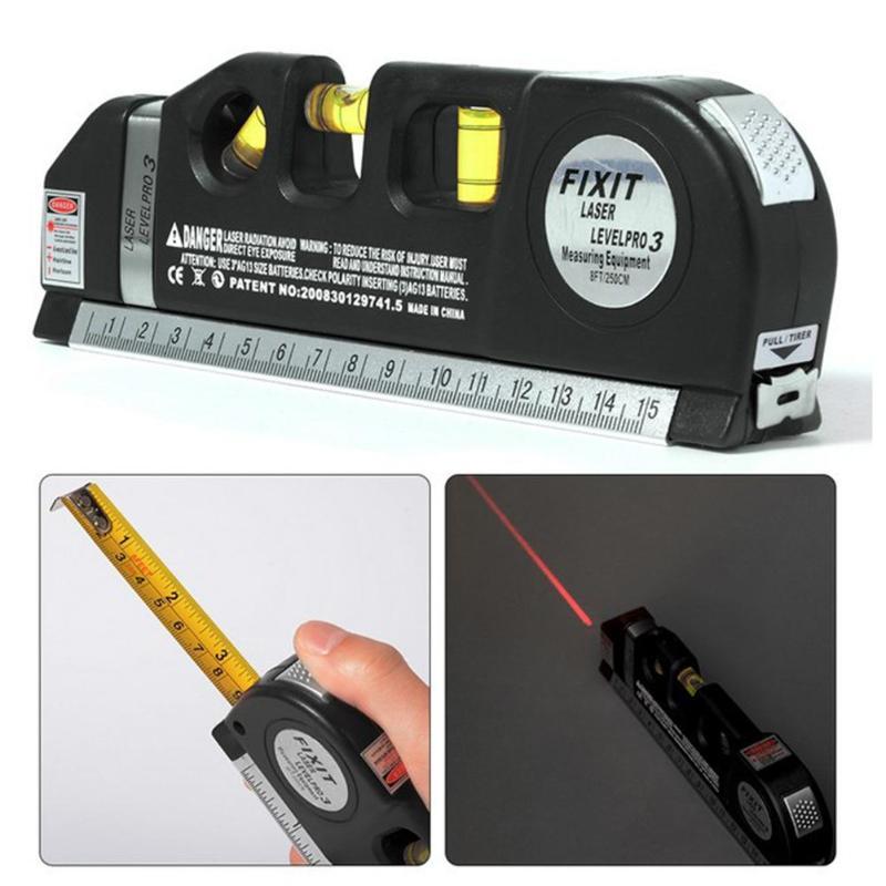 Multi-funcional Infravermelho Nível Do Laser Fita Métrica Régua Horizontal Medida Escala Instrumento Medida Vertical Equipamento do Navio Da Gota
