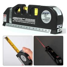 Multi-functional Infrared Laser Level Ruler Horizontal Meter Tape Scale Measure Instrument Vertical Equipment Drop Ship