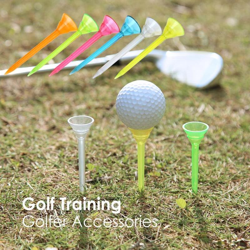 6pcs Outdoor Sports Golf Tees Plastic Nails Holder Support Training Aids