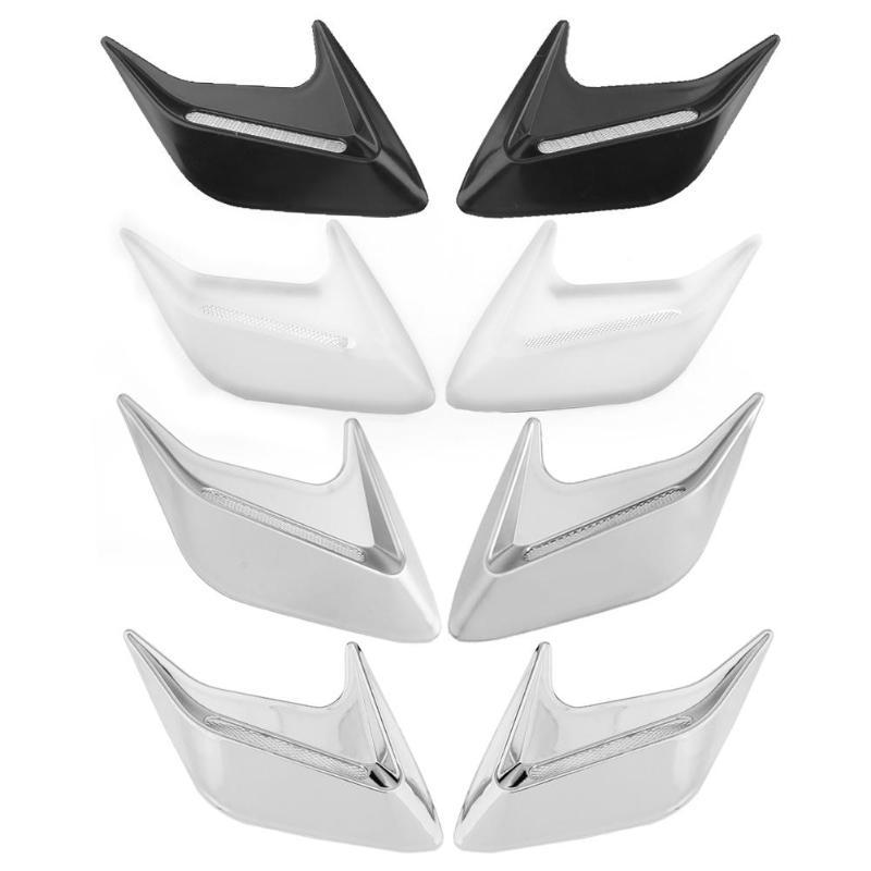 1Pair.ABS Race Car Hood Scoop Carbon Style Bonnet Air Vent Decorative Accessory