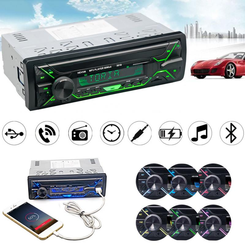 Car Radio Stereo Player Bluetooth Phone AUX-IN MP3 FM/USB/1 Din/remote control 12V Car Audio Auto