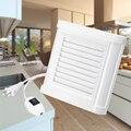 15 Вт 4-дюймовый бесшумный вентилятор, Мощный вытяжной вентилятор для окна, ванная, туалет, кухня, монтируется 220 В 100 мм настенный вентилятор