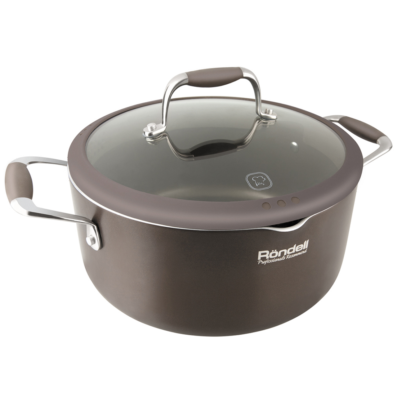 Pot with lid Rondell Mocco 24 cm (3,5 l) RDA-281