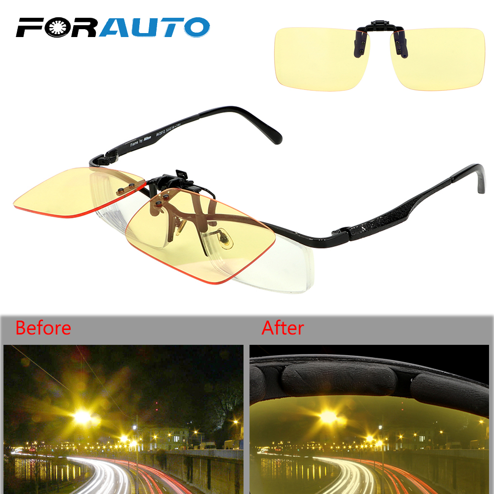 FORAUTO Clip On Glasses Car Driving Glasses Night-Vision Glasses Blue Light Blocking Sports Riding Sunglasses