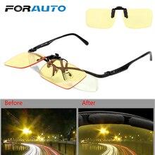 FORAUTO Clip On Glasses Car Driving Glasses Night-Vision Glasses Blue L