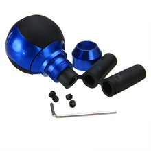 1pc Sport Racing 5 Speed Car Gear Shift Knob lever Manual Automatic Universal Accessories Blue Aluminum Alloy Leather