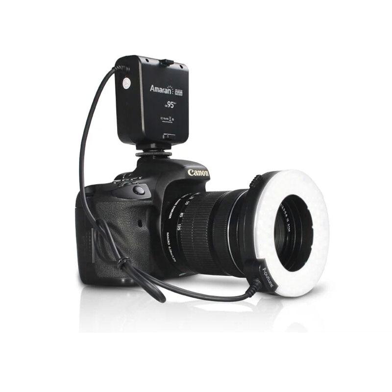 AHL HC100 AHL HN100 LED Macro Ring Flashlight Speedlite Portable Circular Flashlight For Canon for Nikon