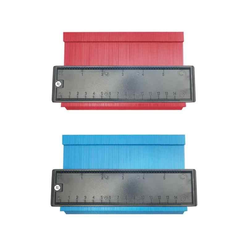 de pl/ástico de 5 pulgadas y 10 pulgadas Duplicador de calibre de contorno herramienta de medici/ón de forma de duplicador de perfil para carpinter/ía