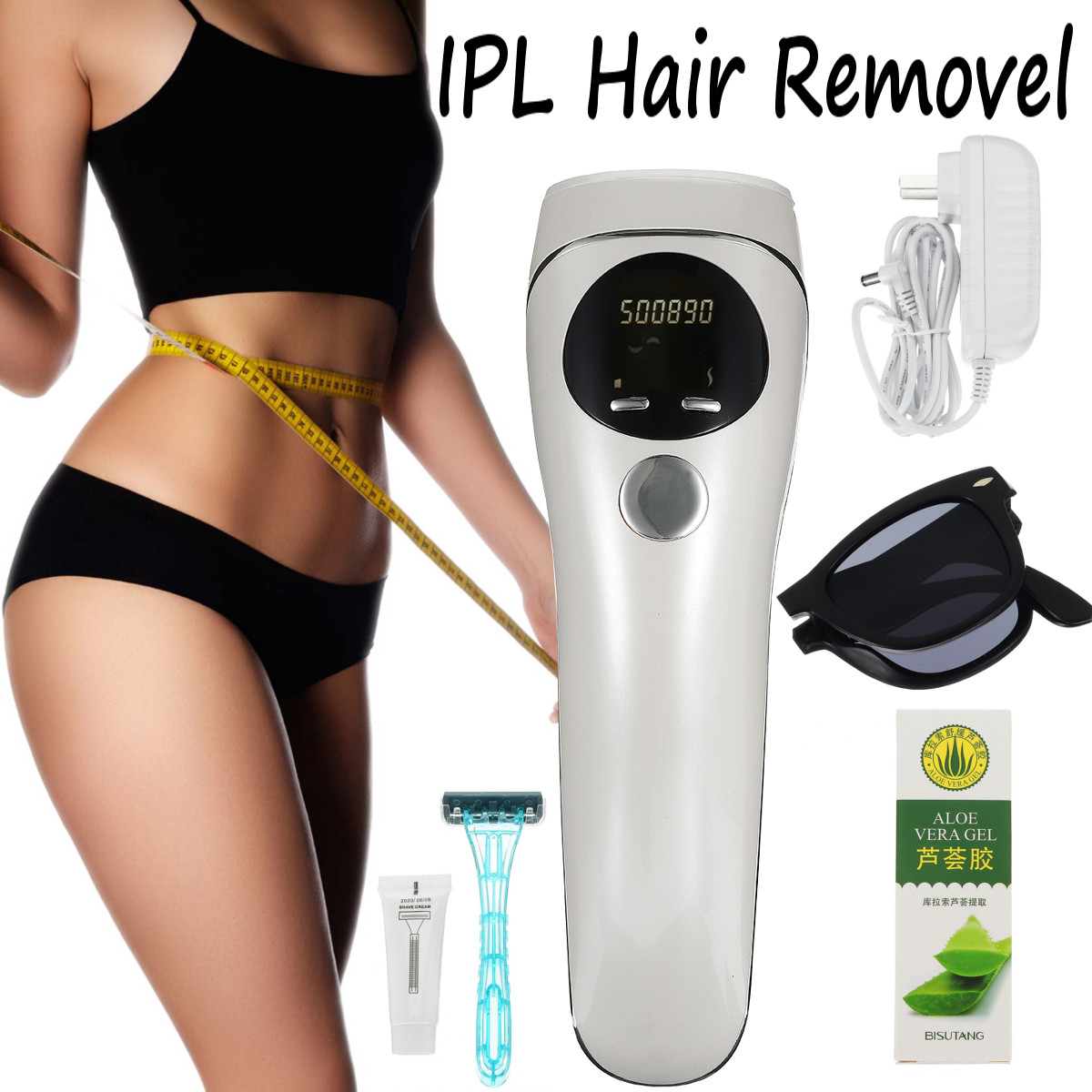 500000 Flashes LCD Display Handheld Laser Epilator Depilador Facial Permanent Hair Removal Device Body Hair Remover Machine500000 Flashes LCD Display Handheld Laser Epilator Depilador Facial Permanent Hair Removal Device Body Hair Remover Machine
