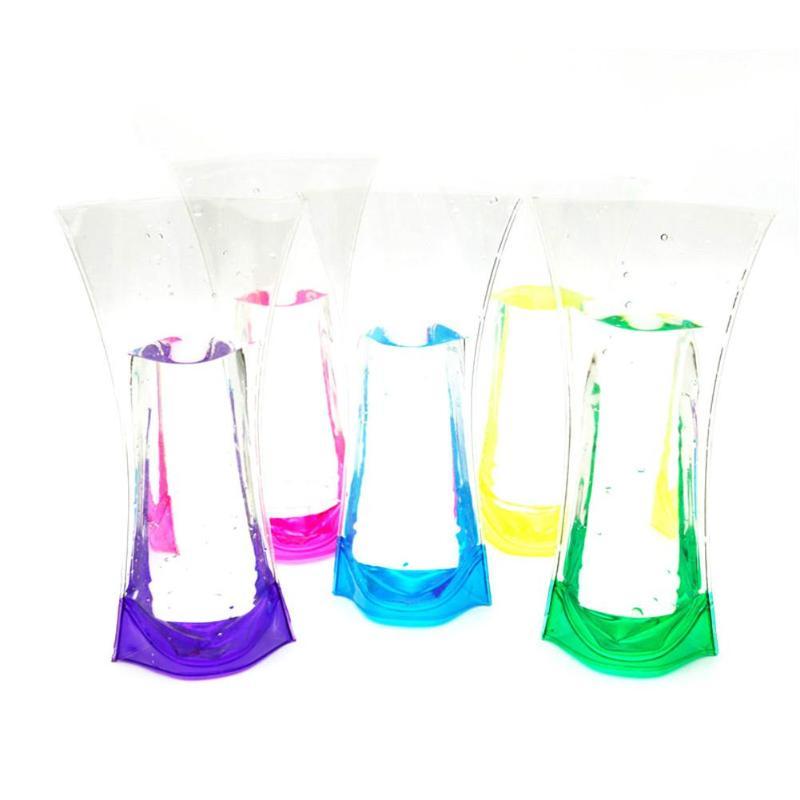 Eco Friendly Foldable Flower PVC Durable Vase Transparent Flower Pot Home Wedding Party Event Store Decor Supplies