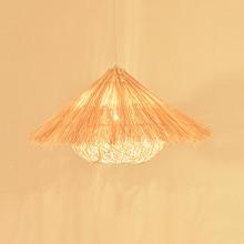Chinese Wooden Bird's Nest Modelling Led Pendant Lights Hand Woven Rattan Pendant Lamp Restaurant Bed Room Balcony Hanging Lamp недорого