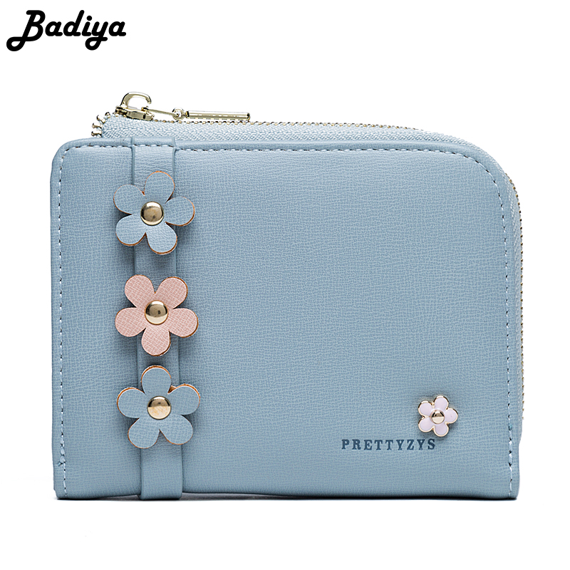New Design Flower Printed Women Short Wallet Fresh Lady Coin PurseFloral Brief Card Holders For Female Zipper Small Clutch Bag