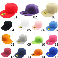 Solid Color Adjustable Flat Hat Men And Women Baseball Cap Retro Outdoor Hip Hop White Black Fashion