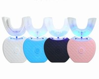 360 Degree U Shape Ultrasonic Toothbrush USB Wireless Charge Hands Free Tooth Brush Teeth Clean Massage Whitening