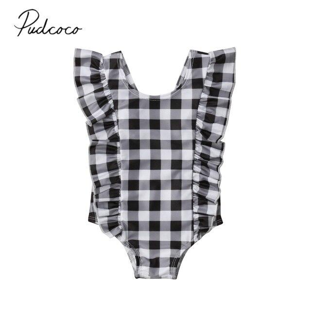 807838ec67f43 2019 Brand New 0-24M Newborn Infant Kids Baby Girls Swimwear One-Piece Swim
