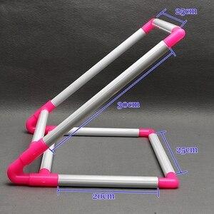 Image 3 - רקמת מסגרת מעשי אוניברסלי קליפ פלסטיק צלב תפר חישוק Stand מחזיק תמיכה מתלה Diy קרפט כף יד כלי
