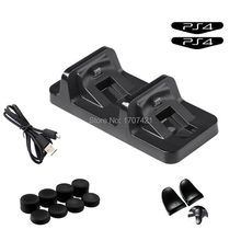Black Fast Charge Dual Pengisian Dock Station untuk PS4 PlayStation 4 Slim Pro DualShock 4 Controller Charger Aksesoris Game(China)