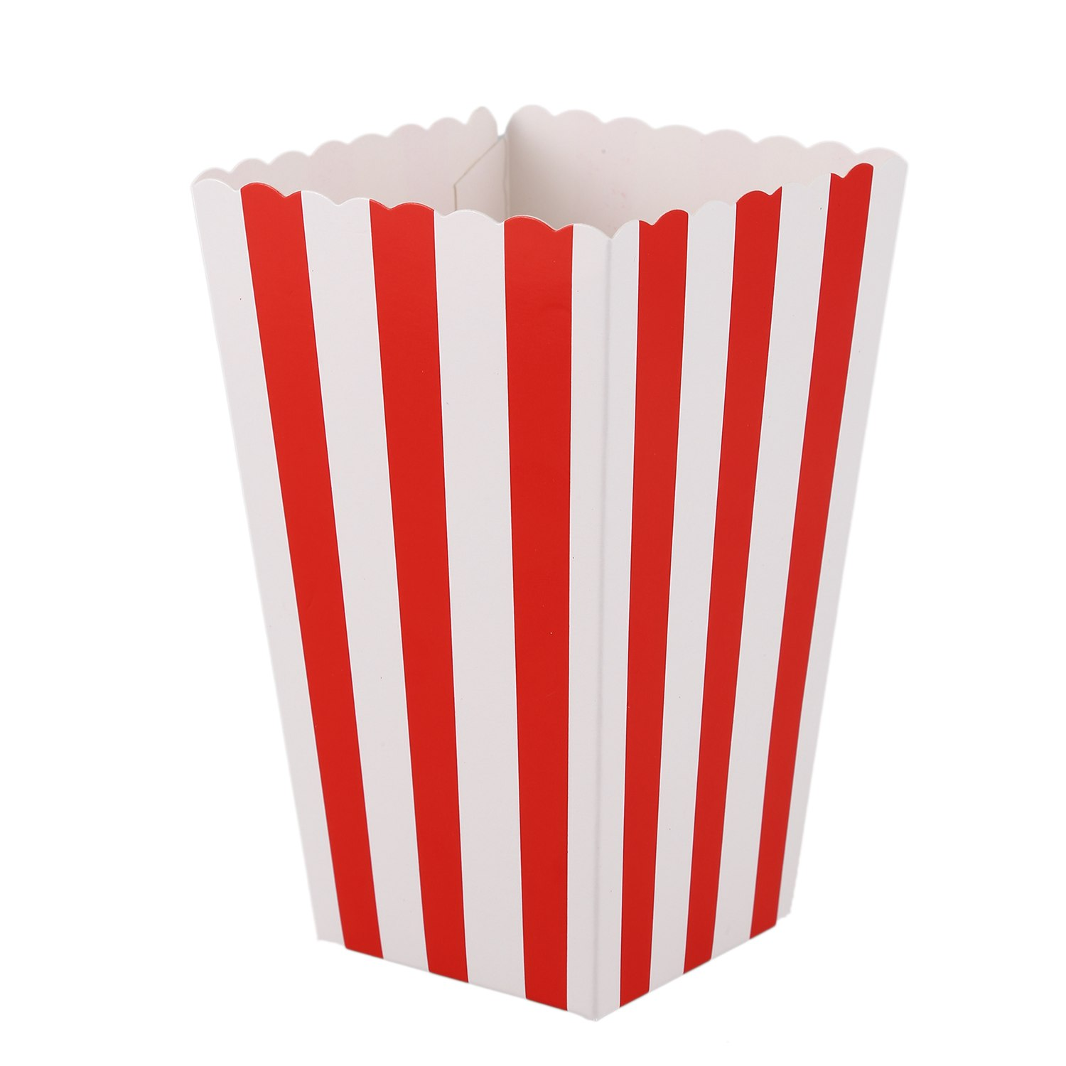 Us 2 71 25 Off Snny 12 Cinema Stripes Treat Party Small Candy Favour Popcorn Bags Bo Red In Gift Wring Supplies From Home Garden On