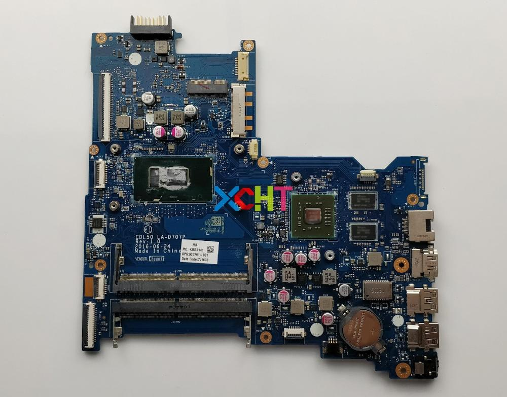 for HP Notebook 15 AY Series 903791 001 903791 601 w 216 0867071 R5M1 30/2G SR2ZU I5 7200U CPU CDL50 LA D707P Motherboard Tested-in Laptop Motherboard from Computer & Office