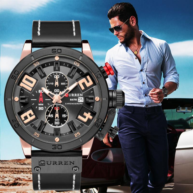 CURREN Watch Casual Men Business Luxury Watches Classic Stainless Steel Quartz Wristwatches Mens Watch Relogio Feminino mike men s business style steel band analog quartz wrist watch golden silver 1 x 626