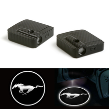 LED Car Door Welcome Laser Projector Logo Fit For (Mustang) Shadow Light 12V