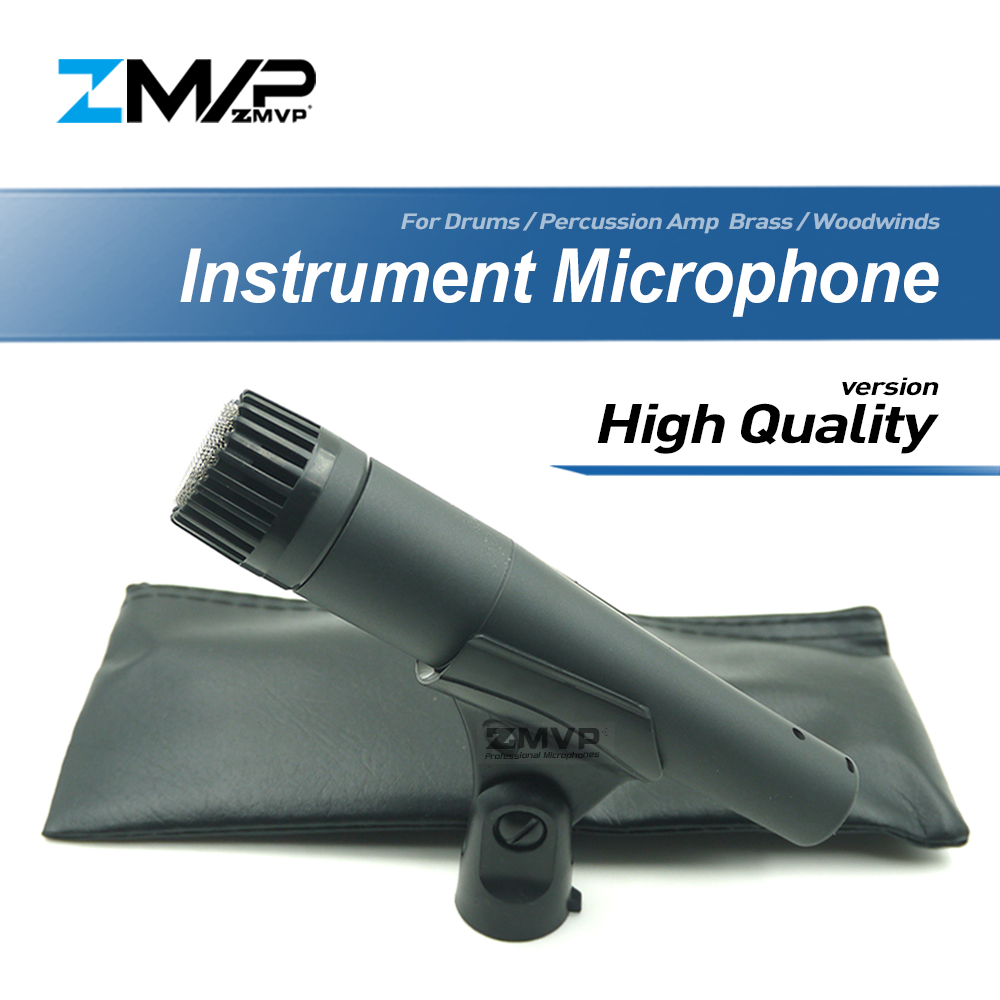 High Quality Version S57H Professional Instrument Dynamic Wired Microphone Mic For Drums Percussion Brass Woodwinds Amp