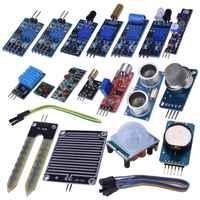 16 en 1 Modules Kit de capteur projet Super Kits de démarrage pour Arduino UNO R3 Mega2560 Mega328 Nano Raspberry Pi 3 2 modèle B K62