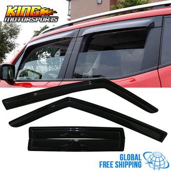 Fit For 15-16 Jeep Renegade Acrylic Window Visors 4Pc Set Global Free Shipping