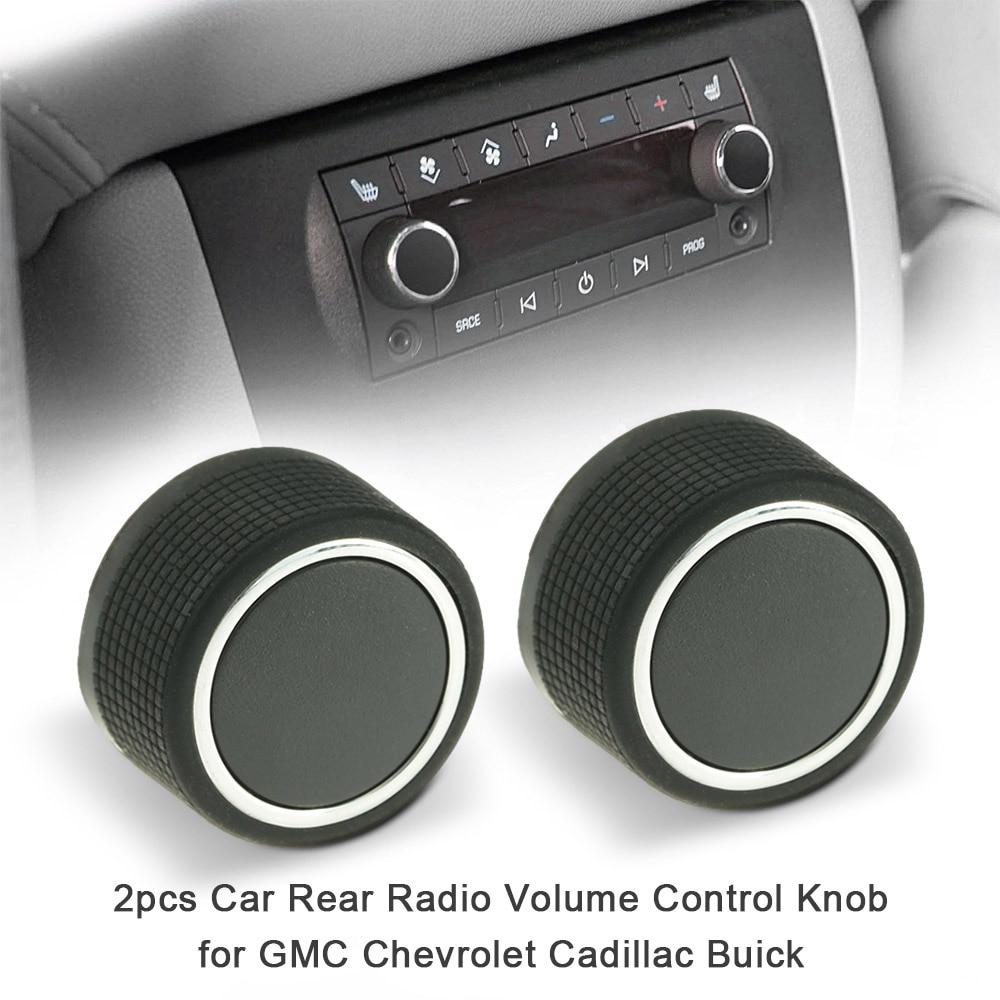 Car Rear Radio Volume Control Knob Chrome For Cadillac Buick Chevrolet GMC New