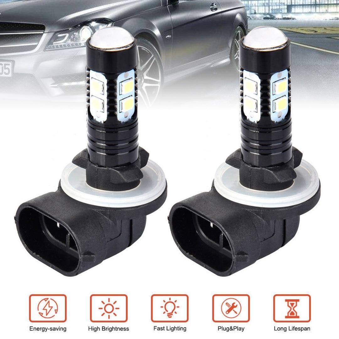 2pcs 881 100W LED Fog Driving Light DRL Bulb 862 885 889 894 White 6000K DC12V