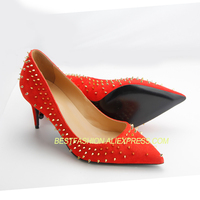 Брендовая женская обувь на высоком каблуке, женская красная обувь, женские туфли лодочки высокого качества, свадебные туфли из натуральной