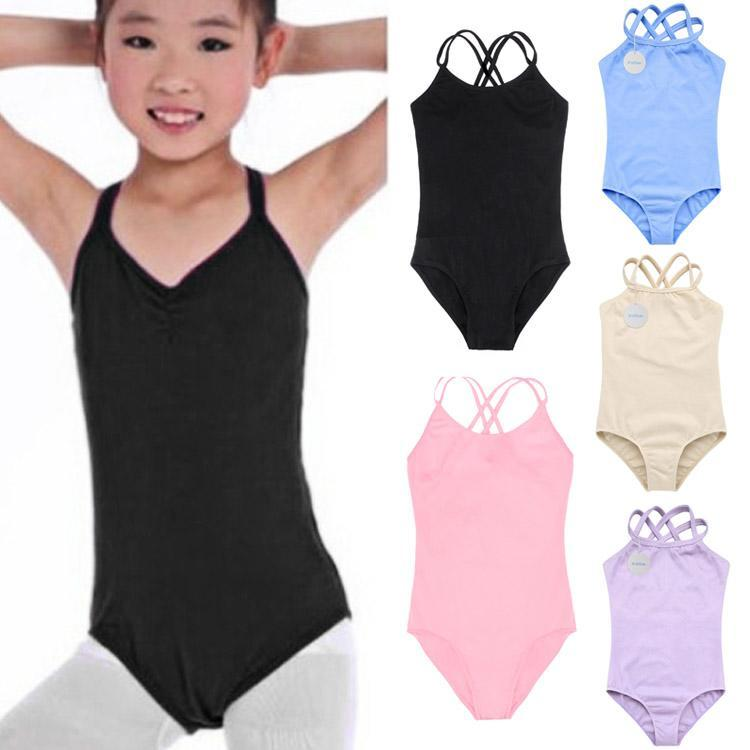 Overall Sports-Ballet Girls Children Jumpsuit Romper Solid for Gymnastics Camisole Double-Strap