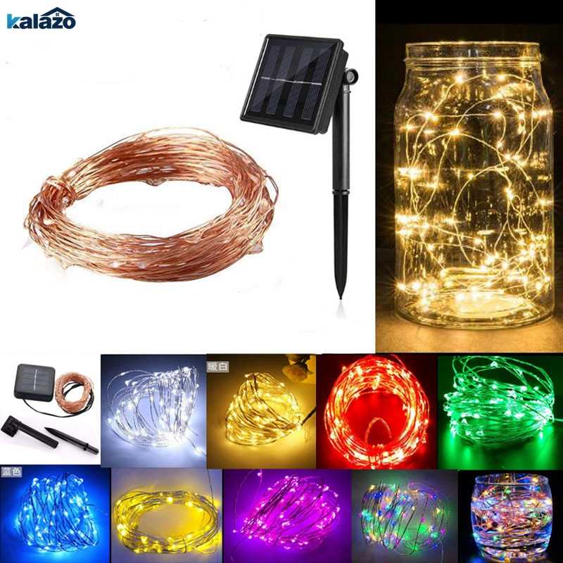 72ft 22m 200 Led Solar Strip Light Home Garden Copper Wire String Fairy Outdoor