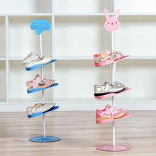 High Quality Simple Storage Rack Can Be Rotated Cartoon Animal Adult Childrens Shoe Home Organizer Easy To Store