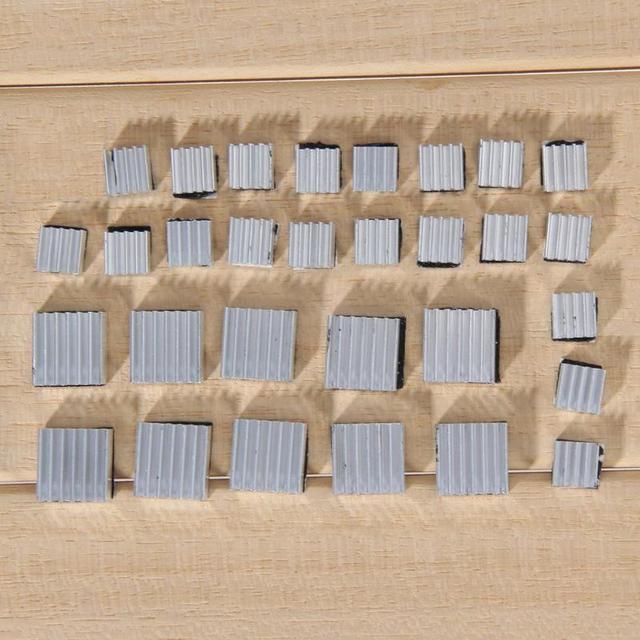 VODOOL 30 pièces adhésif framboise Pi 3 radiateur refroidisseur pur aluminium dissipateur thermique Kit radiateur pour 2 Pi refroidissement framboise Durable