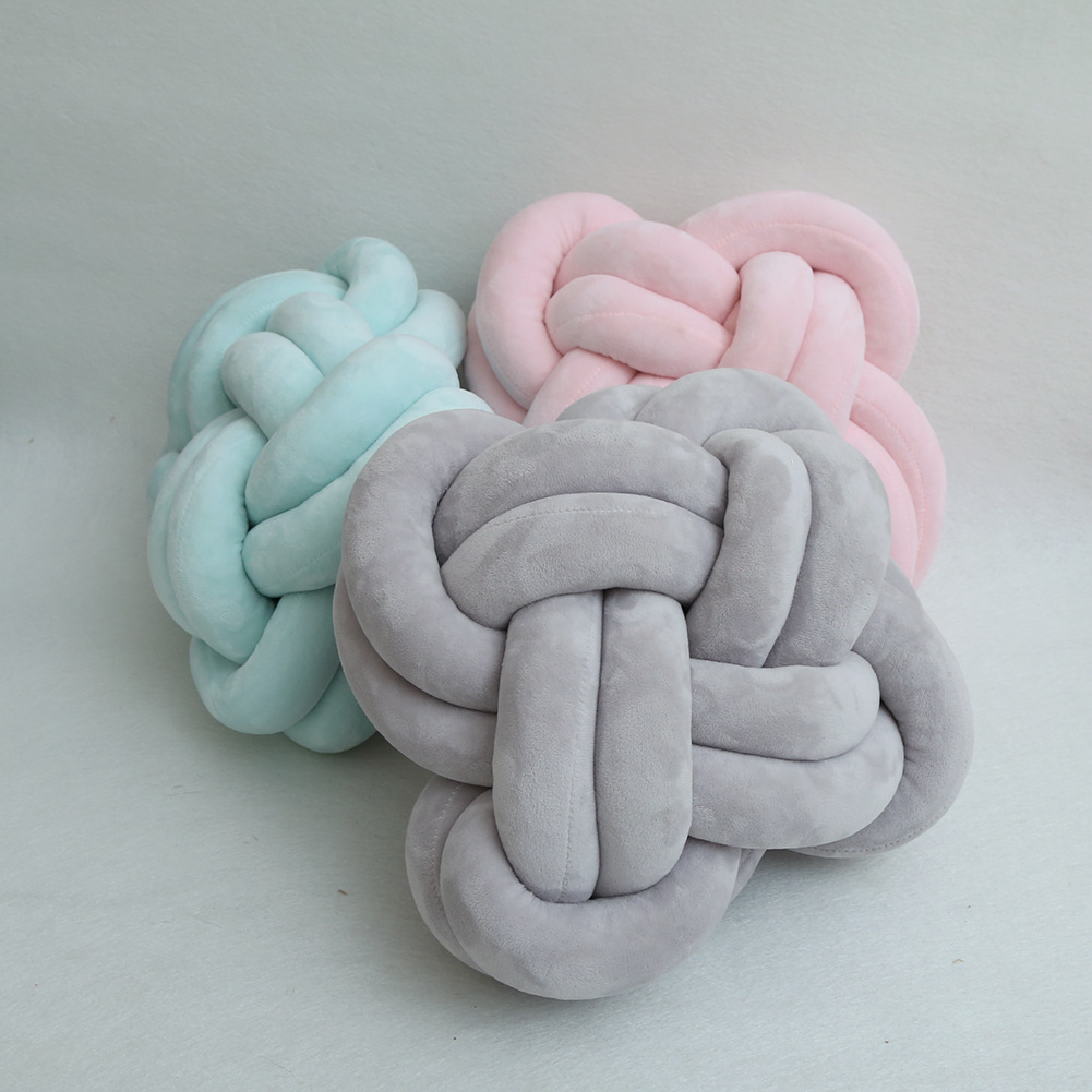 35x15cm Cartoon Plush Woven Knot Ball Sofa Back Cushion Soft Stuffed Kids Baby Room Bumber Decoration Stuffed Throw Handmade Toy Fragrant Aroma Toys & Hobbies