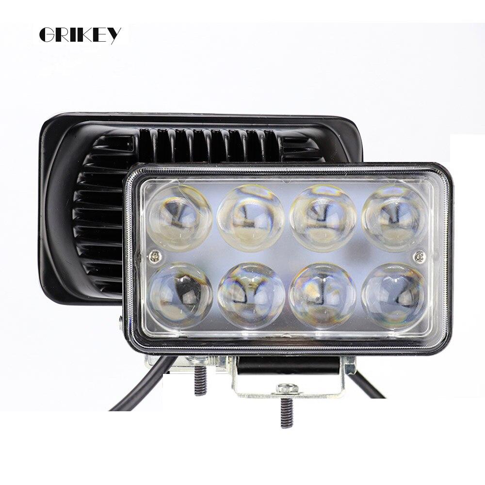 Lampada da auto a LED da 4 pollici a 24 pollici con luce quadrata a LED per auto fuoristrada per camion per motocicli 12V 24V
