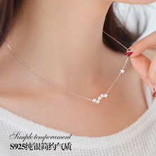 925 Sterling Silver star zircon Necklaces & Pendants For Women High Quality Sterling-silver-jewelry indian patron saint piper 925 sterling silver pendants