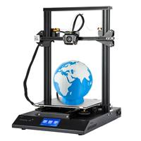110V 220V CR X DIY 3D Printer Kit 300*300*400mm Size Dual clolor Nozzle 4.3Inch for Touch Screen Dual Fan Cool 3D Printing
