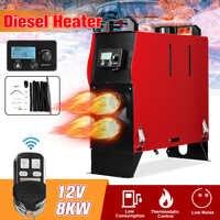 8KW 12V Integration 1/4 Löcher Air Diesels air standheizung LCD Bildschirm Schalter Auto Heizung Mit Fernbedienung Saving raum
