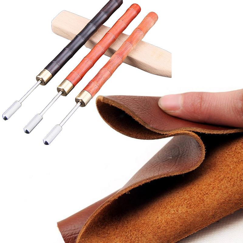DIY Leather Craft Edge Oil Treatment Tool Tip Roller Pen Wallet Edge Leather Oil Painting Accessories Tool Sandalwood handle in Staming from Home Garden