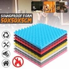 500x500x50mm Soundproofing Foam Studio Acoustic Foam Soundproof Absorption Treatment Panel Tile Wedge Sponge Foam Hot