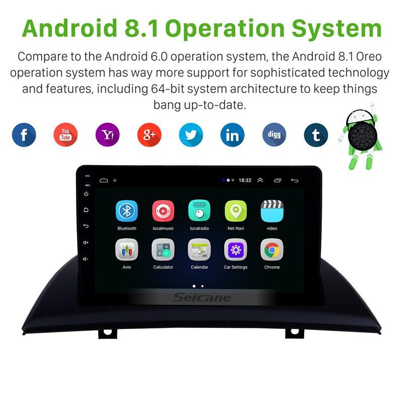 Seicane 9 pouces Android 8.1 Voiture GPS Unité de Tête de Lecteur Pour 2004-2007-2012 BMW X3 E83 2.0i 2.5i 2.5si 3.0i 3.0si 2.0d 3.0d 3.0sd - 2