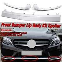 Chrom/Schwarz Auto Front Lower Bumper Lip Splitter Chrome Molding Abdeckung Trim Für Mercedes Für Benz W205 C300 C400 c63 Für AMG-in Stoßstangen aus Kraftfahrzeuge und Motorräder bei