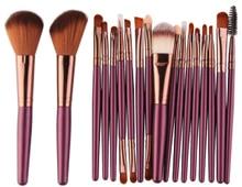 Hot Pro 18Pcs Makeup Brushes Set Eye Shadow Foundation Powder Eyeliner Eyelash Lip Make Up Brush Cosmetic Beauty Tool Kit недорого