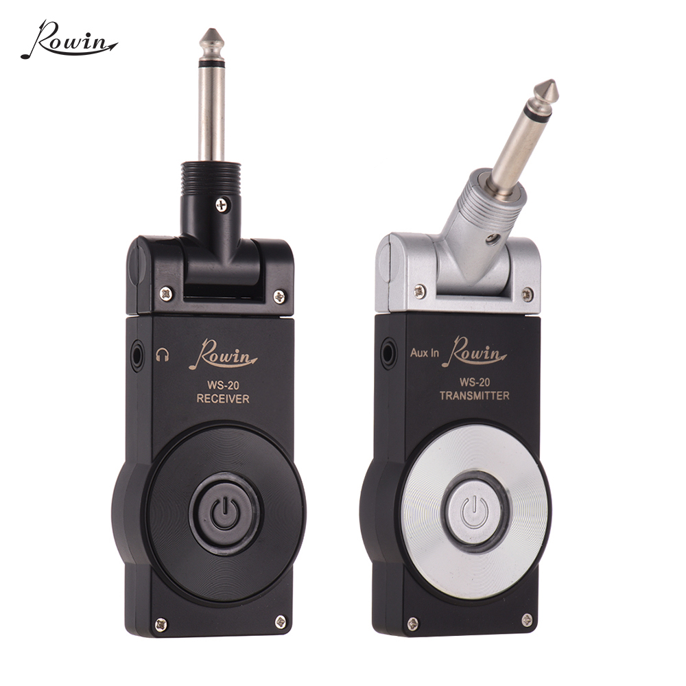 Rowin WS 20 2 4G Wireless Rechargeable Electric Guitar Transmitter Receiver Set 30 Meters Transmission with