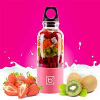 Exprimidor eléctrico portátil de 500 ML, USB, verduras recargables, jugo de fruta, botella, batidos, comida para bebés, Mini taza de mezcla, Dropshipp