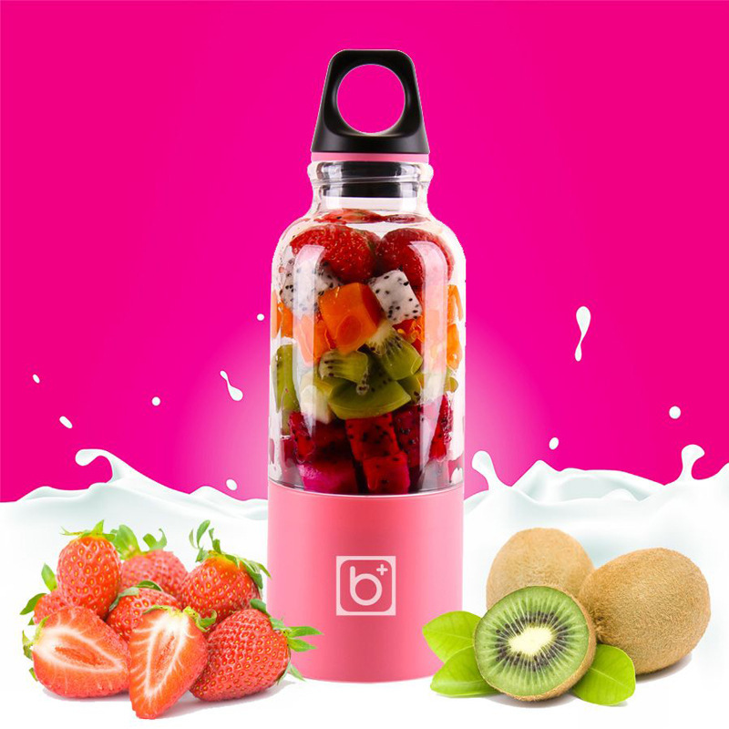 500ML Portable Electric Juicer USB Rechargeable Vegetables Fruit Juice Maker Bottle Smoothie Baby Food Mini Mixing Cup Dropshipp image